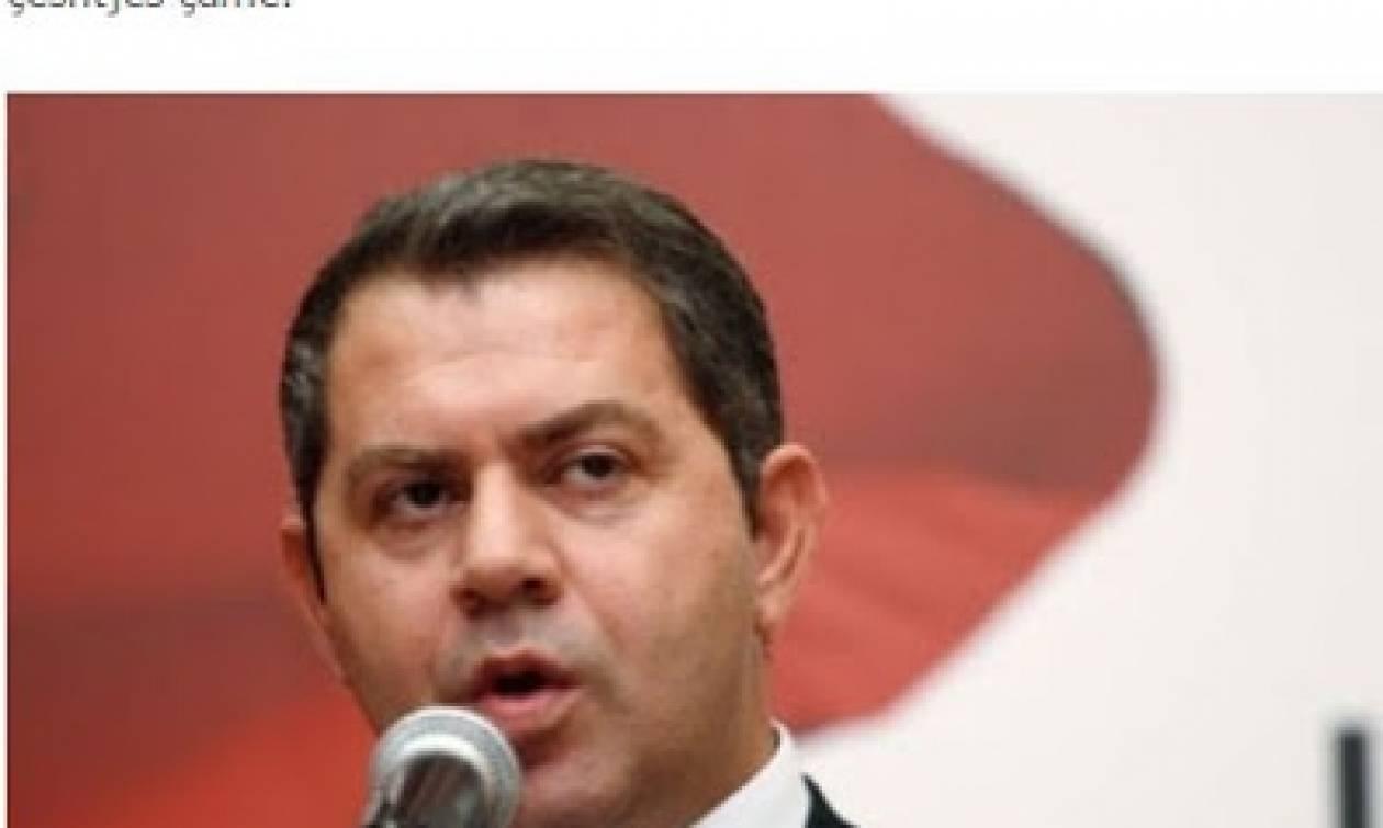 Ξεσηκώθηκε... ο επικεφαλής του κόμματος των Αλβανοτσάμηδων