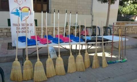 «Αγαπάμε Ηράκλειο – Σκούπα, φαράσι και καθαρίζουμε την πόλη»