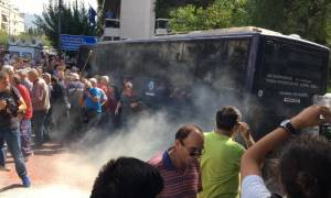 Greek police fire teargas at pensioners during Athens protest