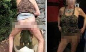 Εικόνες σοκ: Γυναίκα τα έβγαλε όλα δημοσίως και βίασε... δεινοσαυράκι! (photos)