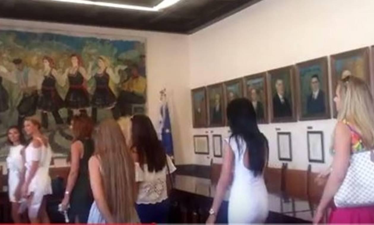 Ομόρφυνε το Δημαρχείο της Ρόδου: Επίσκεψη από Πολωνές φιναλίστ διαγωνισμού ομορφιάς (video)