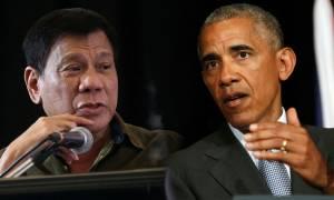 Νέα επίθεση του προέδρου των Φιλιππίνων στον Ομπάμα: «Να πάτε στο διάβολο»