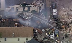 Ισχυρή έκρηξη συγκλόνισε το Νιου Τζέρσεϊ - Ισοπεδώθηκαν σπίτια (video)