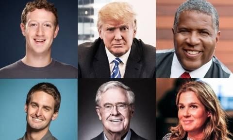 Forbes: Αυτοί είναι οι πλουσιότεροι άνθρωποι των ΗΠΑ