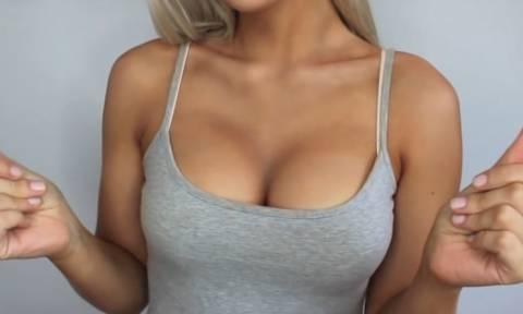 Απίστευτο βίντεο: Πώς να κάνετε αυξητική στήθους μόνο με… μακιγιάζ!