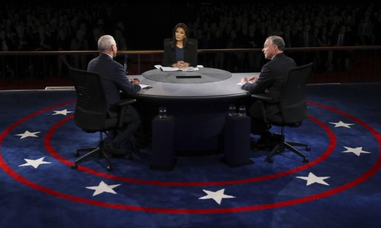 ΗΠΑ-Ντιμπέιτ: Σκληρή μάχη μεταξύ των δύο υποψήφιων αντιπροέδρων Τιμ Κέιν και Μάικ Πενς (Vid)