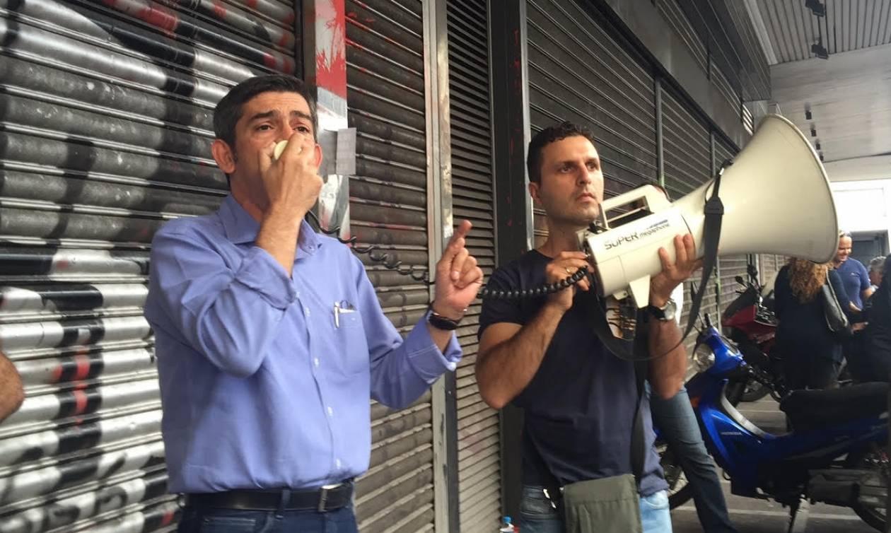 Διαμαρτυρία εργαζομένων του «Ledra Marriott» έξω από το υπ. Εργασίας (photos)