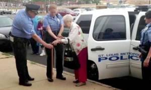 Απίστευτο! «Συνέλαβαν» γιαγιά 102 ετών για τον πιο περίεργο λόγο (pics+video)