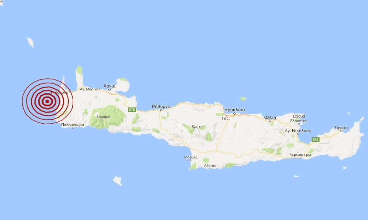 Σεισμός 3,6 Ρίχτερ δυτικά της Κρήτης (pic)