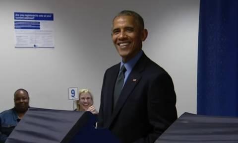 Εκλογές ΗΠΑ 2016: Ο Ομπάμα ψήφισε για το νέο πρόεδρο! (vid)