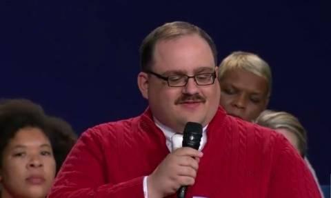 Ο αναποφάσιστος ψηφοφόρος που έκλεψε την παράσταση στο δεύτερο ντιμπέιτ Χίλαρι-Τραμπ