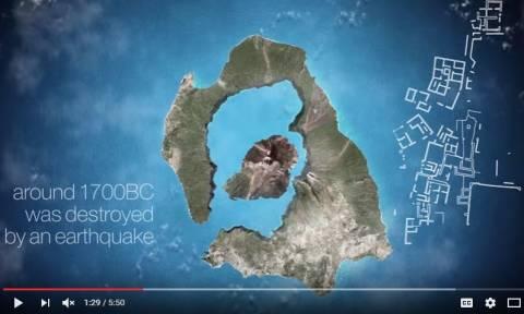 Εντυπωσιακό βίντεο: Να πώς γεννήθηκε το νησί της Σαντορίνης