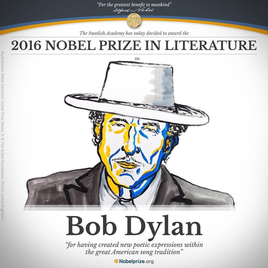 Ο Μπομπ Ντίλαν κέρδισε το βραβείο Νόμπελ Λογοτεχνίας 2016