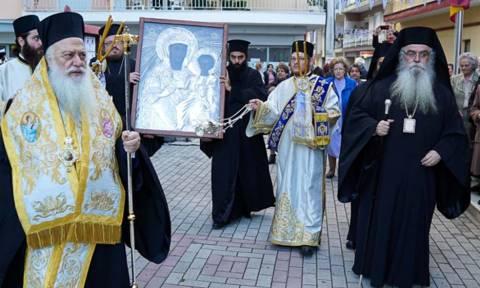 Η εικόνα της Παναγίας Φανερωμένης από την Καστοριά στη Νάουσα