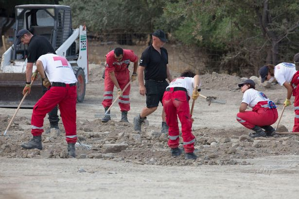 Police and Hellic Rescue volunteers continue the search in the Ben Needham case