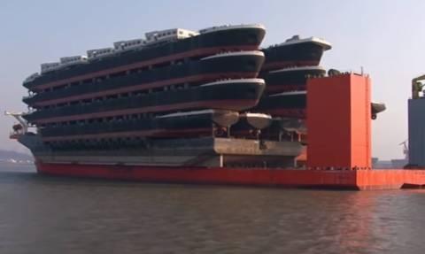 Ετσι φτιάχνουν οι Κινέζοι τα μεγαλύτερα εμπορικά πλοία στον πλανήτη (video)