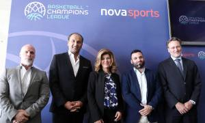 To Basketball Champions League με ΑΕΚ, ΑΡΗ, ΠΑΟΚ στα κανάλια Novasports!