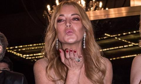 Lindsay Lohan στους θαμώνες του κλαμπ της στο Γκάζι: Βγάλτε το γ@μ... σκασμό! (video)