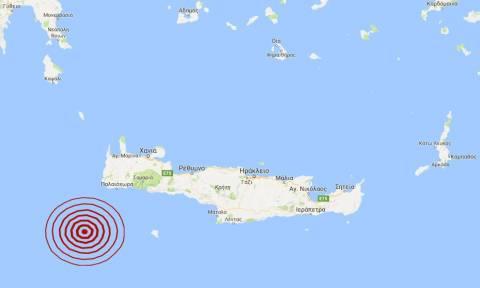 Σεισμός 3,8 Ρίχτερ νοτιοδυτικά της Κρήτης (pic)