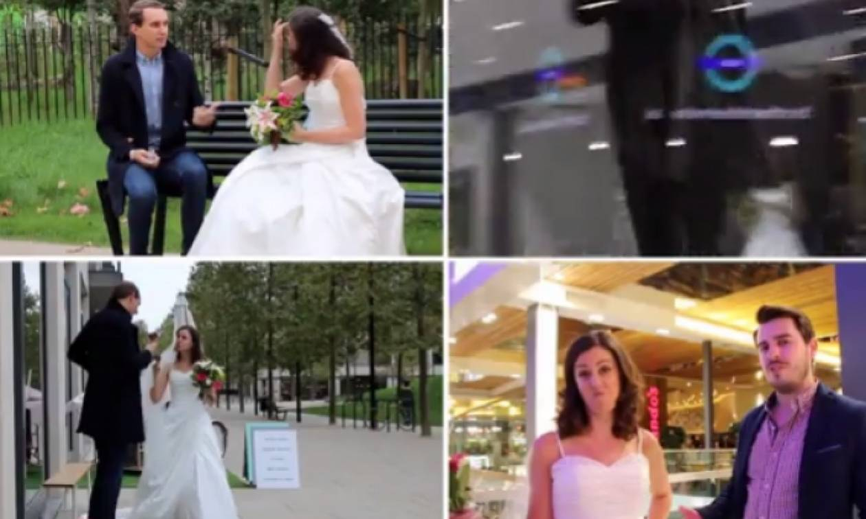 Πάνε σε πρώτο... τυφλό ραντεβού και αυτό που βλέπουν τους κάνει να τρέχουν (video)