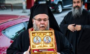 Λείψανα των Αγ. Μεγαλομαρτύρων Ελευθέριου και Τρύφωνος του Αναργύρου στο Περιστέρι