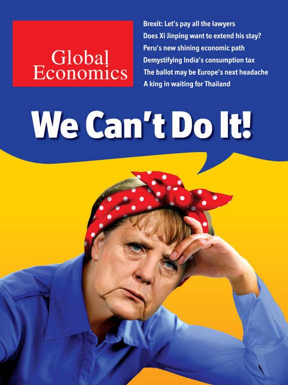 Απογοητευμένη και με φακιόλι στο κεφάλι η Μέρκελ δηλώνει: «We Can't Do it!» (pic)