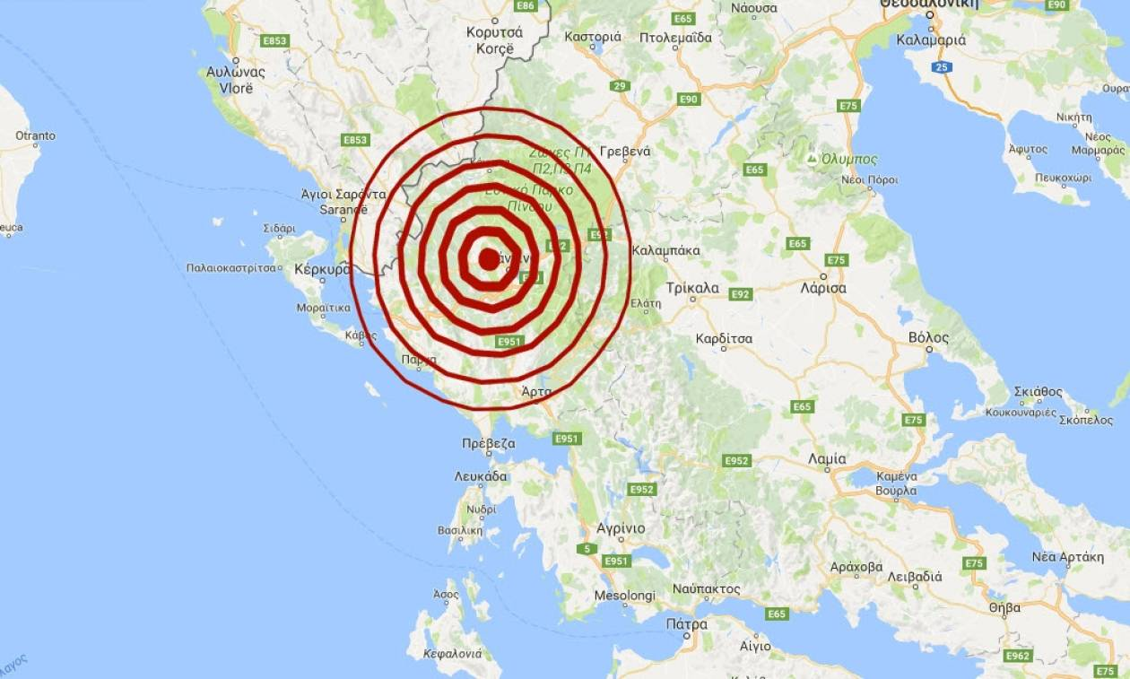 Σεισμός Ιωάννινα: Ισχυρός μετασεισμός 4,3 Ρίχτερ