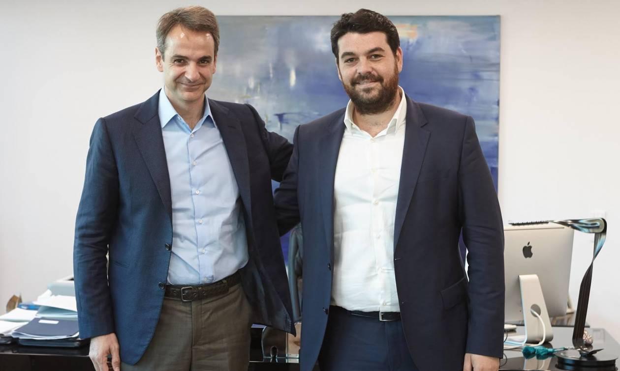 Συνάντηση του Κ. Μητσοτάκη με τον νέο πρόεδρο της ΟΝΝΕΔ