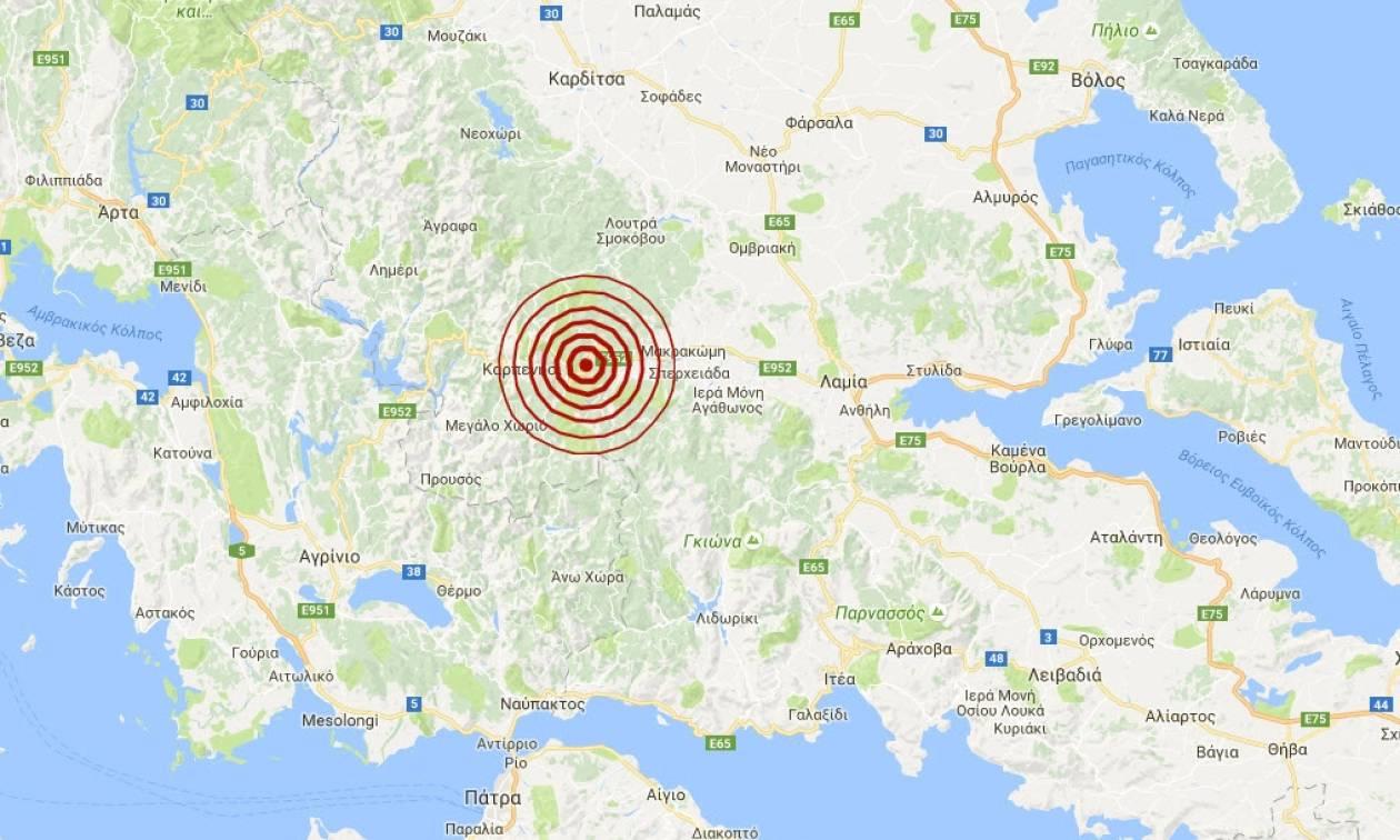 Νέος σεισμός 3,8 Ρίχτερ κοντά στο Καρπενήσι (pics)
