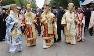 Λιτανεία της εικόνας του Αγίου Δημητρίου στην Θεσσαλονίκη (video)