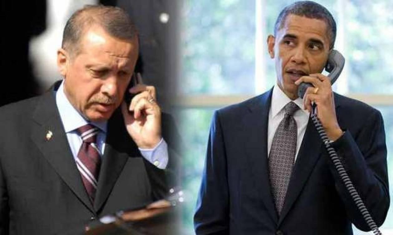 Έκτακτη τηλεφωνική επικοινωνία Ομπάμα - Ερντογάν