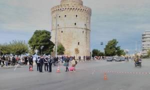 Θεσσαλονίκη: Συγκέντρωση διαμαρτυρίας κατά των πλειστηριασμών στον Λευκό Πύργο (pics)