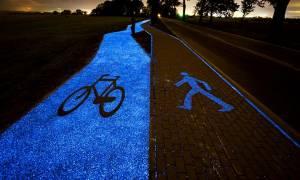 Τι λαμπυρίζει τη νύχτα στην Πολωνία και μαγεύει… τους ποδηλάτες; (photos)
