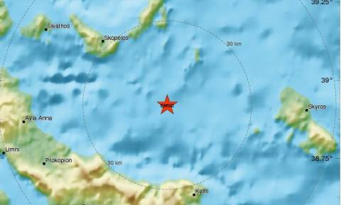 Σεισμός 3,3 Ρίχτερ μεταξύ Εύβοιας και Αλοννήσου
