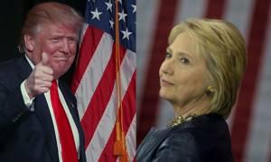 Προεδρικές εκλογές ΗΠΑ: Θρίλερ οι δημοσκοπήσεις για τη μονομαχία Χίλαρι-Τραμπ