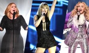 Forbes: Αυτές είναι οι 10 πιο ακριβοπληρωμένες τραγουδίστριες για το 2016!