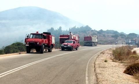 Χίος: Φωτιά στα Καρδάμυλα μετά από στρατιωτική άσκηση