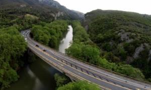 Παραδόθηκε στην κυκλοφορία η εθνική οδός στα Τέμπη