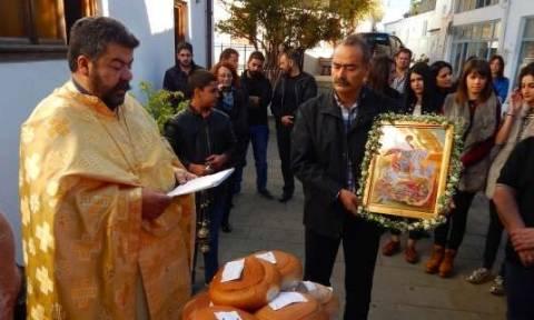 Ανώγεια: Tίμησαν τον Άγιο Γεώργιο τον μεθυστή στο Μεϊντάνι