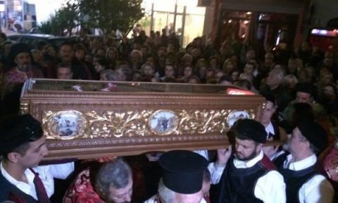 Λιτάνευση του ιερού σκηνώματος του Αγίου Γεωργίου του Νεαπολίτου στον Περισσό