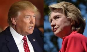 Εκλογές ΗΠΑ: Φρενήρη κούρσα Χίλαρι-Τραμπ για να πείσουν τους τελευταίους αναποφάσιστους