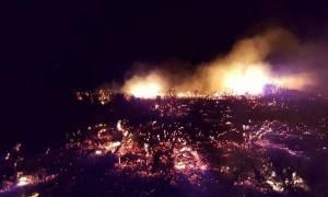 Νάξος: Μάχη των πυροσβεστών με το ανεξέλεγκτο μέτωπο στον Άγιο Κωνσταντίνο
