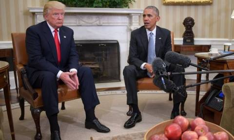 Ο Ντόναλντ Τραμπ στο Λευκό Οίκο: Τι είπαν στην πρώτη συνάντηση με τον Ομπάμα (photos&video)
