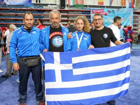 Μια Περαμιώτισσα 3η στον κόσμο στο παγκόσμιο πρωτάθλημα sanda!