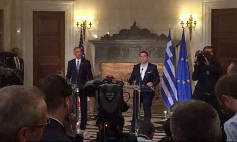 Επίσκεψη Ομπάμα - Τσίπρας: Απομείωση χρέους τώρα - Ομπάμα: Η λιτότητα δεν είναι συνταγή ανάπτυξης
