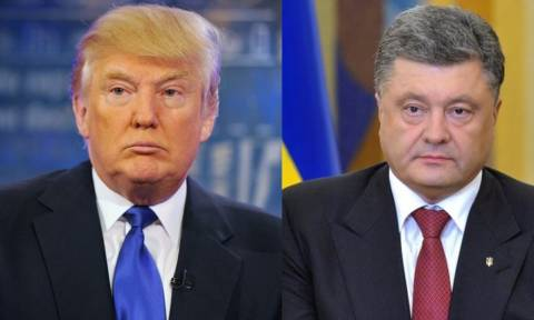 Συμφώνησαν να τα πουν από κοντά Τραμπ και Ποροσένκο