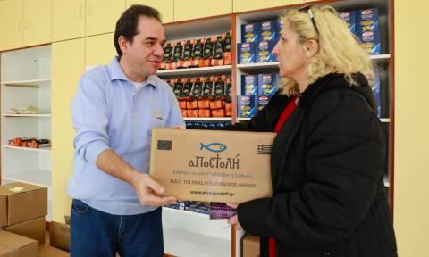 Η «Αποστολή» συνεχίζει να στηρίζει 413 οικογένειες στη Μυτιλήνη και τη Χίο