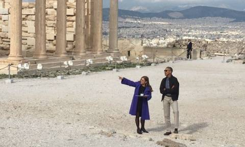 Επίσκεψη Ομπάμα στην Αθήνα - Οι πρώτες φωτογραφίες του Αμερικανού Προέδρου στην Ακρόπολη