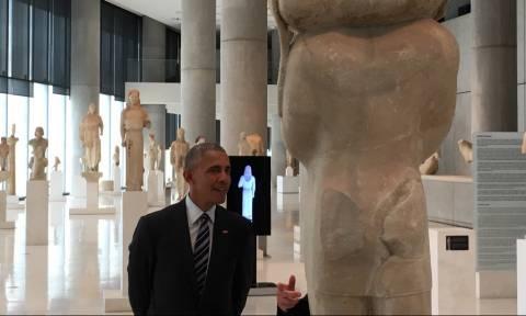 Επίσκεψη Ομπάμα στην Αθήνα - Οι πρώτες φωτογραφίες από την ξενάγησή του στο Μουσείο της Ακρόπολης