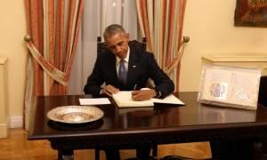 Επίσκεψη Ομπάμα: Δείτε τι έγραψε ο Αμερικανός Πρόεδρος στο βιβλίο υψηλών επισκεπτών